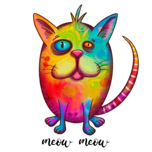 Funny colorful cat