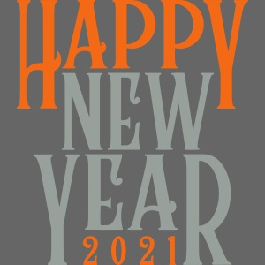 2021HAPPY NEW YEAR! in Metallic Gold & Silver