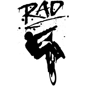 RAD BMX Bike Graffiti 80s Movie Radical Shirts