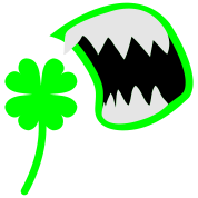 St Patricks Day clover with an OPEN MOUTH !