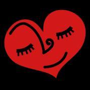 love heart sleeping with lovely eyelashes