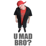 AJ Jordan U Mad Bro Grey Text PNG