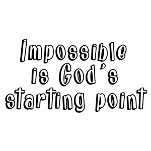 God's starting point