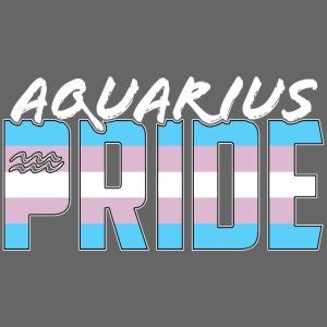Aquarius Transgender Pride Flag Zodiac Sign