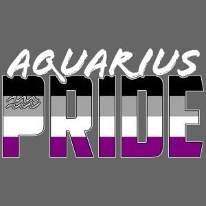 Aquarius Asexual Pride Flag Zodiac Sign