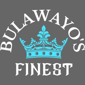 Bulawayo's Finest White print with Blue Crown