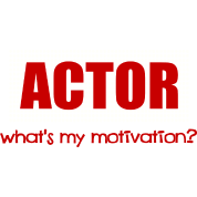 Actor, What's My Motivation, Dot Marquee, White And Red--DIGITAL DIRECT ONLY