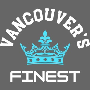 Vancouver's Finest white and blue print