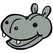 smiling hippo