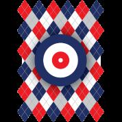 Argyle curling pattern