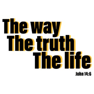 He is The way the truth the life logo