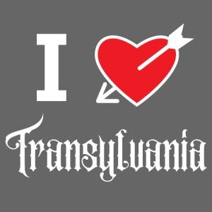 I love Transylvania (white letters version)