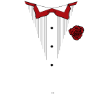 Red bow Tux w/White line mk