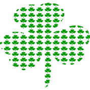 Tiny Shamrocks In Shape Of A Big Shamrock--DIGITAL DIRECT
