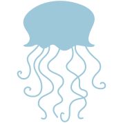 jellyfish shape with long tentacles
