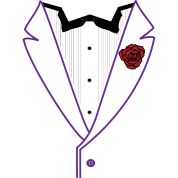 Funk Tux - Purple Lapels