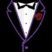 Funk Tux - Purple Lapels