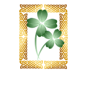 Gold Framed Shamrocks