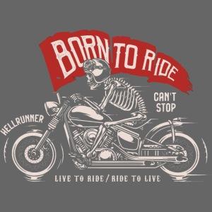 born to ride skull motorcycle