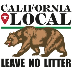 California Local Leave No Litter Sticker