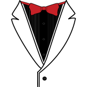 Tuxedo Plain With Red Bow Tie