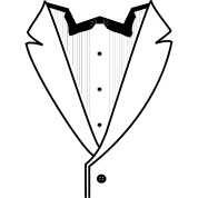 Tuxedo Plain w. Black Lines