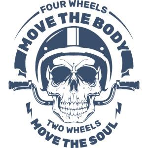 motorcycle biker rider skull