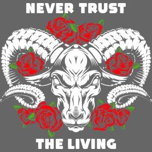 roses skull bull
