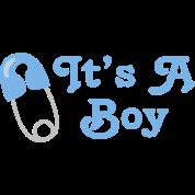 It's A Boy Blue Baby Announcement