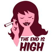 the end is high with woman smoking weed