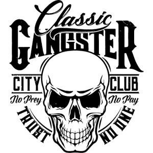 gangster classic skull