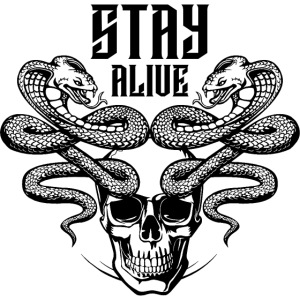 snake skull alive