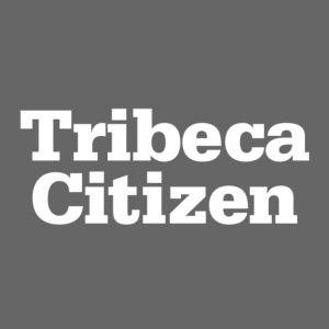 tribeca citizen stacked logo in white