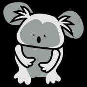 simple cute koala bear