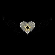 Army Girlfriend Winged Heart