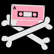 cassette tape crossbones cool 80's