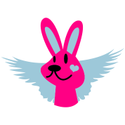 cute bunny with wings