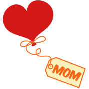 mom pretty balloon and gift tag prestn for Mothers day !