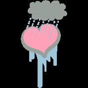 heart under a raincloud depression?