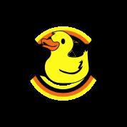 rubber ducky on a star and rainbow