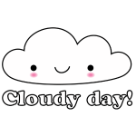cloudy day happy