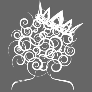 Curly Queen with Crown_ GlobalCouture Women's T-Sh