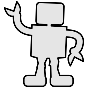 robot outline two color sabotage