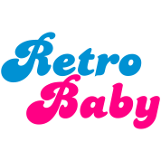 retro baby in funky cute font