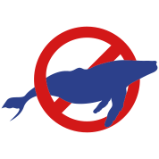 NO WHALING humpback whale in the ocean