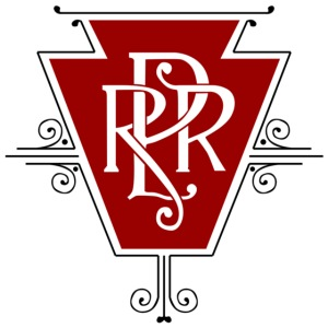 Vintage Pennsylvania Railroad Logo for light shir