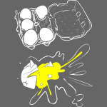 T-Shirt War Egg Carton Splat