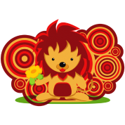 Flower and lion