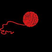 wool ball 'n knitting needle (2c)