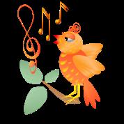 Orange Singing Bird